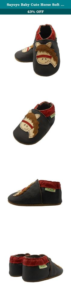 Sayoyo Baby Cute Horse Soft Soled Leather Baby Shoes Baby Moccasins(6-12 months ,Brown). Please attention: soles color are not fixed, we are random delivery Features: 1). The design so adorable and fashionable. 2). The fabric is very comfortable for baby to wear in spring, summer, autumn. 3). The sole of shoes is soft and thin suitable as baby prewalker. Size: 3-6 months -----4.5/5 M US Toddler ------4.1 inch-----12CM 6-12 months-----5/6 M US Toddler ------5.1 inch-----13CM 12-18...