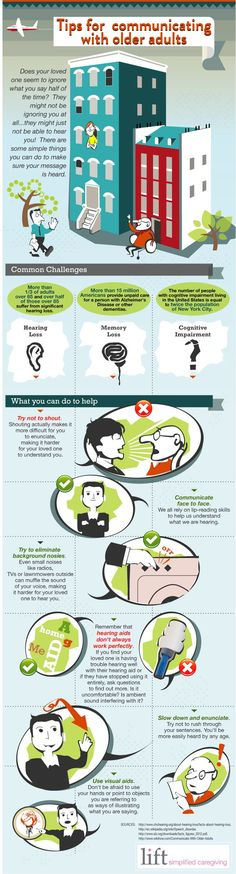 Hearing loss can be a barrier to communication for the elderly. Use these tips to help!
