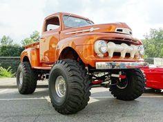 1952 Ford Truck, Old Ford Trucks, Ford 4x4, 4x4 Trucks, Cool Trucks, Lifted Trucks, Old Ford Pickups, Custom Trucks, 1968 Ford Mustang Fastback