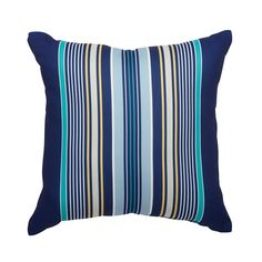Shop Garden Treasures Blue Striped Outdoor Throw Pillow At Loweu0027s Canada.  Find Our Selection Of
