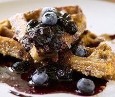 Cracked Wheat Waffles Recipe | from Bobby Flay's Bar Americain cookbook | House & Home