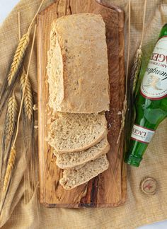This quick 10 minute Vegan Beer Bread has a sweet chewy crust on the outside with a soft scrumptious yeasty inside.