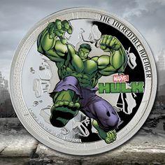 "NIUE 2014  4 x 2 $ Dollar - ""The Avengers"" - Captain America - Hulk - Iron Man und Thor - Satz 4 x 1 Oz. Silber Farbe in Polierter Platte NIUE 2014  4 x 2 $ Dollar - ""The Avengers"" - Captain America - Hulk - Iron Man and Thor - 4 x 1 Oz. Silver Proof Coin in Color"