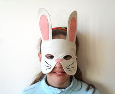 Kids Easter Bunny Rabbit Mask Children Carnival by BHBKidstyle
