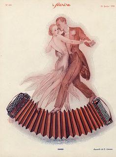 Tango by Georges Léonnec – Shall We Dance, Lets Dance, Tango Art, Polka Music, Illustrations Vintage, Dance Magazine, Dancing Drawings, Art Français, Dance Photos