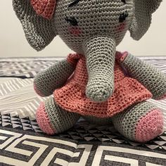 Crochet Pattern Elephant English/ Crochet Elephant PATTERN | Etsy Crochet Elephant Pattern, Crochet Doll Pattern, Crochet Patterns, Dinosaur Stuffed Animal, Teddy Bear, Bisquick, English, Dolls, Animals