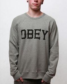Obey Men's O-89 Crew Neck Sweatshirt - Heather Grey