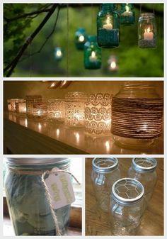 24 Best DIY Mason Jar Vases, Votives & Photo Holders #masonjar