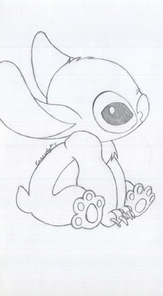 cute drawings to draw best stitch drawing ideas Easy Disney Drawings, Disney Character Drawings, Cute Cartoon Drawings, Cute Easy Drawings, Drawing Cartoon Characters, Snoopy Characters, Cute People Drawings, Drawing Disney, Face Characters