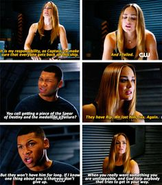 """""""We couldn't have got him. You know that, right? Sara, you can't beat yourself up about this."""" #LegendsofTomorrow #Season2 #2x09"""