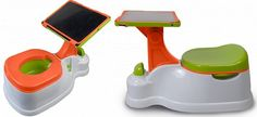 INTRODUCING, TOILET TRAINING'S NEWEST TREND: THE IPOTTY  Yup, technology went there. There are currently no specific apps designed for the iPotty, but one search of the Apple Store will show that there is not shortage of kid-friendly (even potty-training friendly) apps and TV shows available that will leave your little one entertained for hours while in the loo.