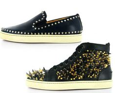 Louboutin's. Infiltration of spikes and studs.
