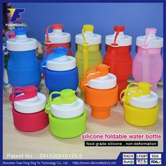 Flexible Collapsible Foldable Reusable Water Bottles BPA Free Wholeslae Suplliers Manufacturer Compare Price at www.siliconefactory.net and E-mail:sophia@gjzpc.com