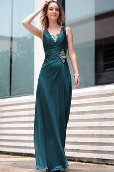 Fashion Formal Dress Plus Size Green V-neck Long Celebrity Party dress Evening Dress,<3!