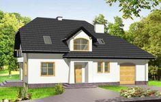 Projekt Pogodny 2 to pełen uroku dom z garażem, dla rodziny cztero-pięcioosobowej. Dom został zaprojektowany w taki sposób aby pasował również na wąską działkę z ogrodem z boku. Architektura projektu nawiązuje do charakteru współczesnej zabudowy jednorodzinnej. Atutem domu jest duży garaż. Nad garażem mieści się strych, który może pełnić funkcję dodatkowego pokoju.