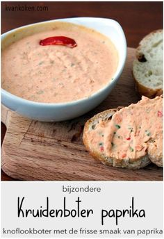 Kruidenboter met paprika – De K van Koken Appetizer Recipes, Snack Recipes, Warm Appetizers, Dinner Recipes, Lunch Restaurants, Good Food, Yummy Food, Party Food And Drinks, Party Snacks