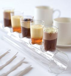 Mini dessert glasses