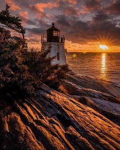 How To Paint Ocean Sunset Travel 24 Trendy Ideas pins Lighthouse Pictures, Photos Originales, Ocean Sunset, Ciel, Pretty Pictures, Resorts, Nature Photography, Scenery, Around The Worlds