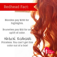 Truth! Right, beautiful #redheads?