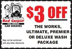 5+ active Red Carpet Car Wash coupons, promo codes & deals for Nov. Most popular: $18 Off with Super Savings Coupon.