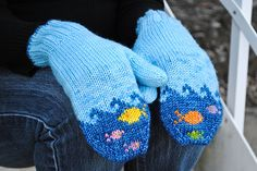 Ravelry: Fish in the Sea Mittens pattern by Elizabeth Sullivan