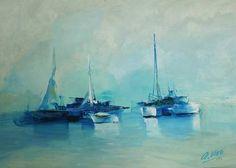 "Saatchi Art Artist Andres Vivo; Painting, ""4142  Escunas"" #art"