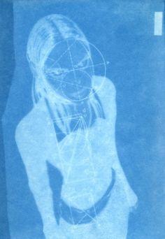 untitled cyanotype by birgit jürgenssen, 1988/89