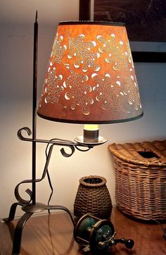 Autumn Oak Leaf Cut & Pierced Lampshade (No Lamp) Sold - but another one's on its way soon!