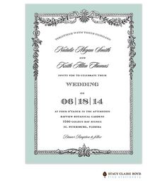 Stacy Claire Boyd | Wedding Invitations | Toulouse Invitation (SCB) | The Merry Invites Store