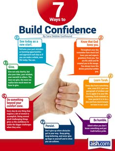 Seven Ways to Build Confidence