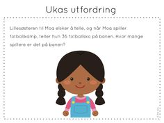 ukas utfordring Teaching Math, Maths, Norway, Family Guy, Activities, Education, School, Children, Printables
