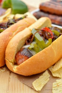 Cheesesteak Hot Dogs recipe by @sugardishme  // Order Hot Dogs here: https://www.zayconfoods.com/campaign/27