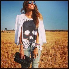Trevita Street Style INVERNO 2013# tee mania x  Caveirismo x destroyer jeans #trevita #trevitastreetstyle