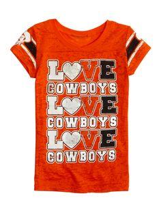 Oklahoma State Cowboys Vneck Burnout Tee