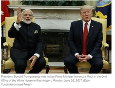 "WASHINGTON — Hugging outside the White House Monday, President Donald Trump and India's Prime Minister Narendra Modi heralded an increasingly close strategic partnership as the U.S. branded a top militant from neighboring Pakistan as a ""global terrorist.""  Get #NarendraModi & #BJP #latestnews and #updates with - http://nm4.in/dnldapp http://www.narendramodi.in/downloadapp. Download Now."