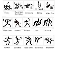 Ideogram - a graphic symbol that represents an idea or concept *Beijing's Olympic symbols for 2008 Games*