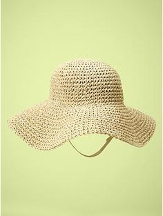 Every Southern Belle baby needs a floppy straw hat to protect her from the sun.  $19.95