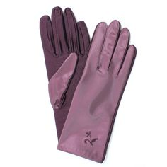 Stretch Sateen Gloves with Embroidered Flower Accent