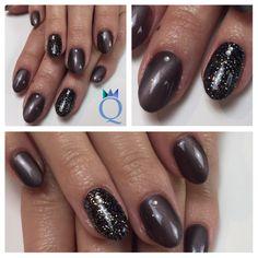 #shortnails #gelnails #nails #black #glitter #brown #cateye #akyado #kurzenägel #gelnägel #nägel #schwarz #glitzer #braun #cateyegel #nagelstudio #möhlin #nailqueen_janine