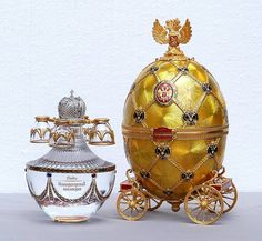 Faberge vodka and shot glasses set.