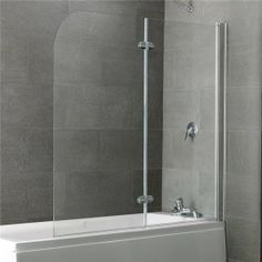 Eastbrook Volente 2 part hinged bath screen 1465mm x 1550mm