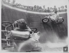 Doctor Who used to ride the Wall of Death too - with a LION! Jon Pertwee rode in a circus with the King of the Jungle as his companion! What Guy Martin did last night in his live TV special was an incredible achievement. It was a feat of science, engineering and human endurance and full credit should be given to all of the people that worked with him to ... See http://mofi.re/1USCT8s for more. #Animal, #Crazy, #GuyMartin, #Lion, #Stunt, #WallOfDeath