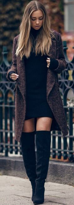 Awesome Autumn Winter Trends We discover the fashion trends of the season. - Women's Jewelry and Accessories-Women Fashion Cute Winter Outfits, Fall Outfits, Casual Outfits, Outfit Winter, Night Outfits, Casual Wear, Cardigan Outfits, Long Cardigan, Winter Shoes