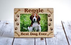 Pet Frame Dog Frame Personalized Pet Picture by CustomWoodWonders