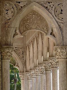 details made of stone: Sintra - Pałace Monserrate / Monserrate Palace #Portugal