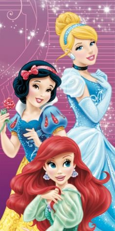 Cinderella, Snow White and Ariel