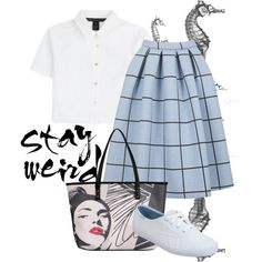 Stay Weird by world-music on Polyvore featuring MARC BY MARC JACOBS, Topshop, Keds and Kensie