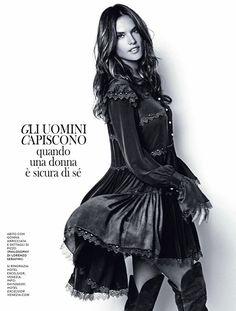 Alessandra Ambrosio for Grazia Italia November 2015 by Julian Hargreaves - Philosophy di Lorenzo Serafini Fall 2015