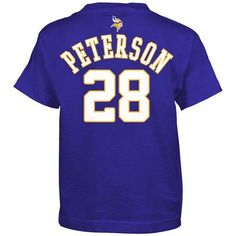 Adrian Peterson Minnesota Vikings Youth Player Name and Number T-Shirt. Click to order! - $21.99
