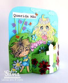 Silvia Scrap: Reto # 54 en Latinas Arts & Crafts. A mamá díselo con flores